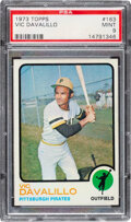 Baseball Cards:Singles (1970-Now), 1973 Topps Vic Davalillo #163 PSA Mint 9 - None Higher!