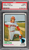 Baseball Cards:Singles (1970-Now), 1973 Topps Tommy Helms #495 PSA Mint 9 - Four Higher. ...