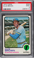 Baseball Cards:Singles (1970-Now), 1973 Topps Ollie Brown #526 PSA Mint 9 - Three Higher.
