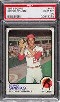 Baseball Cards:Singles (1970-Now), 1973 Topps Scipio Spinks #417 PSA Gem Mint 10 - Pop Two!