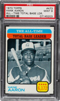 Baseball Cards:Singles (1970-Now), 1973 Topps All-Time Leader - Hank Aaron #473 PSA Mint 9 - None Higher!...