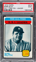 Baseball Cards:Singles (1970-Now), 1973 Topps All-Time Leader - Babe Ruth #474 PSA Mint 9 - N...