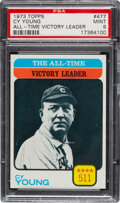 Baseball Cards:Singles (1970-Now), 1973 Topps All-Time Leader - Cy Young #477 PSA Mint 9 - None Higher! ...