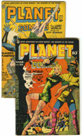 Golden Age (1938-1955):Science Fiction, Planet Comics #32 and 35 Group (Fiction House, 1944-45) Condition:Average GD.... (Total: 2 Comic Books)