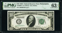 Fr. 2000-C $10 1928 Federal Reserve Note. PMG Choice Uncirculated 63 EPQ