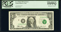 Shifted Third Printing Error Fr. 1918-E $1 1993 Federal Reserve Note. PCGS Choice About New 55PPQ