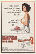"""Movie Posters:Drama, Butterfield 8 (MGM, 1960). Folded, Very Fine-. One Sheet (27"""" X 41""""). Drama.. ..."""