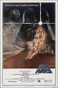 """Star Wars (20th Century Fox, 1977). Folded, Very Fine-. Third Printing One Sheet (27"""" X 41"""") Style A. Tom Jung..."""