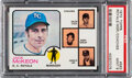 Baseball Cards:Singles (1970-Now), 1973 Topps Royals Manager/Coaches #593 PSA Mint 9 - Only O...