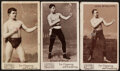 Boxing Cards:General, 1895 N310 Mayo Cut Plug Boxing Cards Trio (3). ...