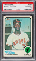 Baseball Cards:Singles (1970-Now), 1973 Topps Mickey Rivers #597 PSA Gem Mint 10 - Pop Two!...