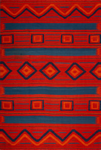 A Navajo Late Classic Man's Wearing Blanket