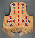 American Indian Art:Beadwork and Quillwork, A Santee Sioux Beaded Hide Vest...
