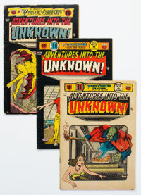 Adventures Into The Unknown Group of 6 (ACG, 1954) Condition: Average GD/VG.... (Total: 6 Comic Books)