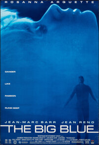 """The Big Blue (Columbia Home Video, 1988). Rolled, Very Fine-. Video One Sheet (27"""" X 39.5"""") SS. Drama"""