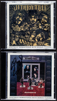 """Jethro Tull & Other Lot (Capitol Records, 2001). Very Fine/Near Mint. Signed CDs (4) (5"""" X 5.5""""). Rock and..."""