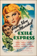 """Movie Posters:Thriller, Exile Express (Grand National, 1939). Folded, Very Fine+. One Sheet (27"""" X 41""""). Thriller.. ..."""