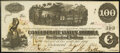 Confederate Notes:1862 Issues, San Antonio Issued T40 $100 1862 Crisp Uncirculated.. ...