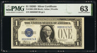 Fr. 1604 $1 1928D Silver Certificate. PMG Choice Uncirculated 63
