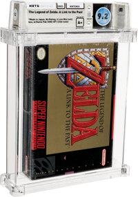 The Legend of Zelda: A Link to the Past - Wata 9.2 A+ Sealed [Made in Japan], SNES Nintendo 1992 USA
