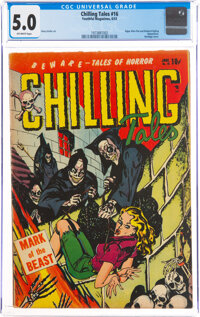Chilling Tales #16 (Youthful Magazines, 1953) CGC VG/FN 5.0 Off-white pages