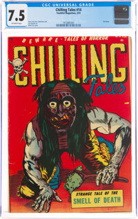 Chilling Tales #14 (Youthful Magazines, 1953) CGC VF- 7.5 Off-white pages