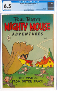 Mighty Mouse Adventures #1 (St. John, 1951) CGC FN+ 6.5 Off-white to white pages