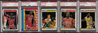 1987 & 1988 Fleer Basketball High-Grade Complete or Near Cards & Stickers Sets (2)