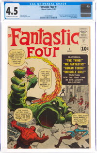 Fantastic Four #1 (Marvel, 1961) CGC VG+ 4.5 Off-white to white pages