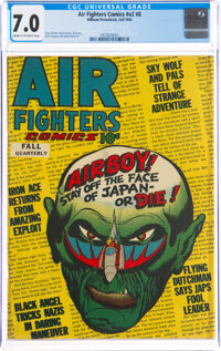 Air Fighters Comics V2#8 (Hillman Fall, 1944) CGC FN/VF 7.0 Cream to off-white pages