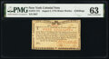 Colonial Notes:New York, New York August 2, 1775 (Water Works) 4s PMG Choice Uncirculated 63.. ...