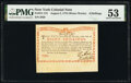 Colonial Notes:New York, New York August 2, 1775 (Water Works) 8s PMG About Uncirculated 53.. ...
