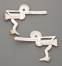 A Pair of Olmec Birds with Long Beaks and Extended Legs... (Total: 2 )