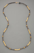 Pre-Columbian:Metal/Gold, A Necklace of Pre-Columbian Gold and Ceramic Beads...