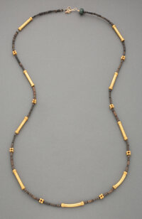 A Necklace of Pre-Columbian Gold and Ceramic Beads