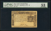 New York September 2, 1775 $5 PMG About Uncirculated 53