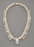 Pre-Columbian:Metal/Gold, A Crystal Bead Necklace...