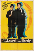 """Movie Posters:Comedy, Laurel and Hardy Lot (Hal Roach, 1947). Folded, Fine+. Stock One Sheet (27"""" X 41""""). Comedy.. ..."""