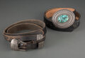 American Indian Art:Jewelry and Silverwork, Two Navajo Belts... (Total: 2 )
