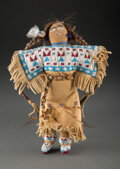 American Indian Art:Beadwork and Quillwork, A Plains Beaded Hide Female Doll...