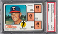 Baseball Cards:Singles (1970-Now), 1973 Topps Rangers Manager/Coaches #549 PSA Mint 9 - None ...
