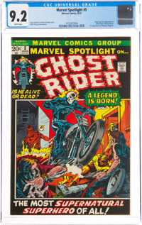 Marvel Spotlight #5 Ghost Rider (Marvel, 1972) CGC NM- 9.2 White pages