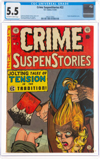 Crime SuspenStories #22 (EC, 1954) CGC FN- 5.5 Off-white to white pages