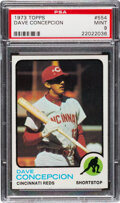 Baseball Cards:Singles (1970-Now), 1973 Topps Dave Concepcion #554 PSA Mint 9 - None Higher! ...