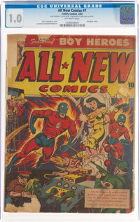 All-New Comics #7 (Family Comics, 1944) CGC FR 1.0 Off-white pages