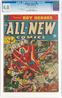 All-New Comics #10 (Family Comics, 1944) CGC VG 4.0 Light tan to off-white pages