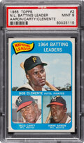 Baseball Cards:Singles (1960-1969), 1965 Topps N.L. Batting Leaders - Clemente/Carty/Aaron...