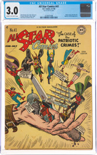 All Star Comics #41 (DC, 1948) CGC GD/VG 3.0 Cream to off-white pages