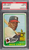 Baseball Cards:Singles (1960-1969), 1965 Topps Rico Carty #305 PSA Mint 9 - Only One Higher!...