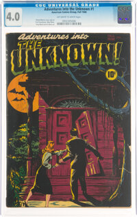 Adventures Into The Unknown #1 (ACG, 1948) CGC VG 4.0 Off-white to white pages
